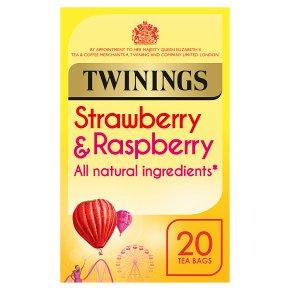 Twinings Strawberry & Raspberry Tea 20 Tea Bags