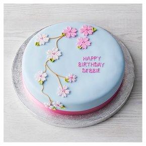 Floral Cherry Blossom Cake