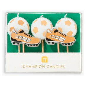 Talking Tables Football Shaped Candles