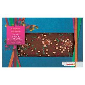 Waitrose Christmas Festive Chocolate Traybake