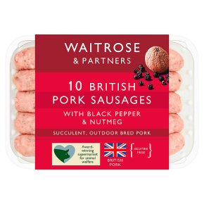 Waitrose 10 British Pork Sausages