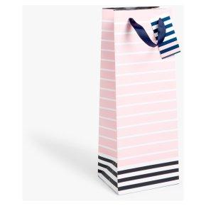 John Lewis Pink Stripe Bottle Bag