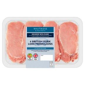 Waitrose British 4 British Pork Loin Medallions