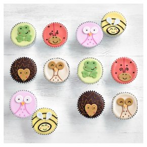 12 Woodland Friends Cupcakes
