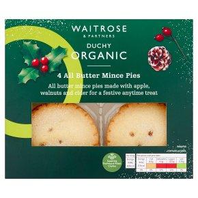 Waitrose Duchy Organic All Butter Mince Pies