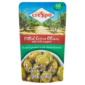 Crespo Pitted Green Olives Chilli