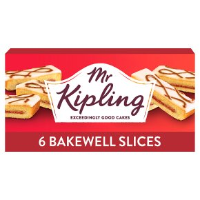 Mr Kipling bakewell slices