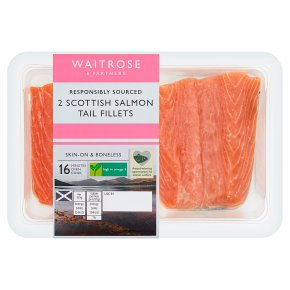 Waitrose 2 Scottish Salmon Tail Fillets
