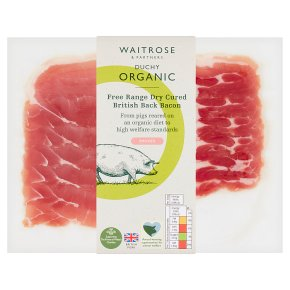 Waitrose Duchy Free Range Dry-Cured Back Bacon Smoked