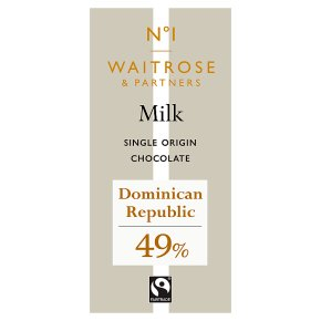 No.1 Dominican Republic Milk Chocolate 49% | Waitrose & Partners