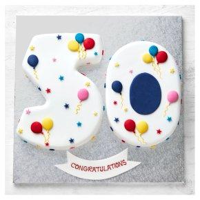 50th Birthday Balloon & Stars Cake
