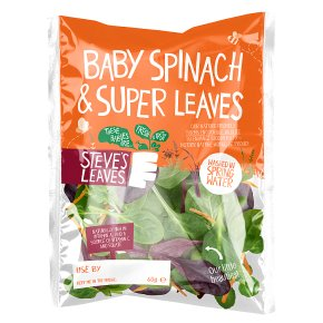 Steve's Leaves Baby Spinach & Super Leaves