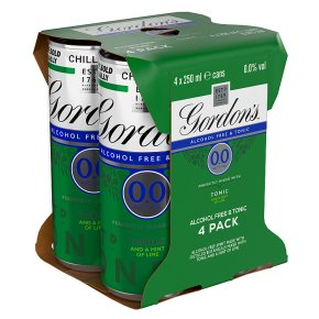 Gordon's 0.0 Alcohol Free & Tonic and a Hint of Lime