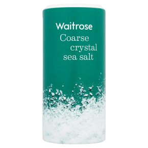 Waitrose coarse crystal sea salt