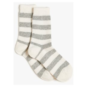 John Lewis Cashmere Stripe Ankle High Socks