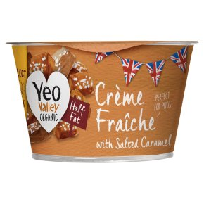 Yeo Valley Half Fat Crème Fraîche with Salted Caramel