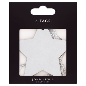 John Lewis Silver Star Gift Tags