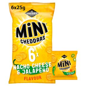 Jacob's Mini Cheddars Nacho Cheese & Jalapeño
