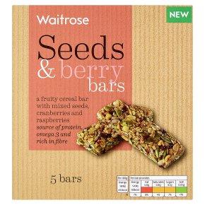 Waitrose 5 Seeds & Berry Bars