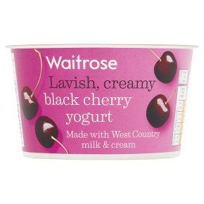 Waitrose Black Cherry Yogurt