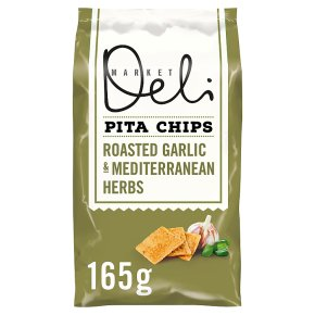 Market Deli Pita Chips Roasted Garlic with Herbs