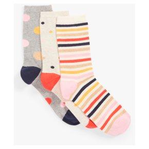 John Lewis Spots & Stripe Ankle Socks