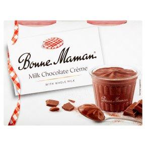 Bonne Maman Milk Chocolate Crème Pots