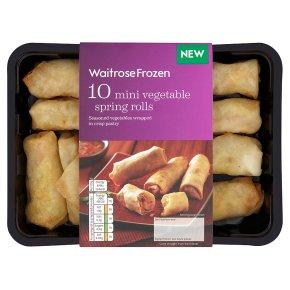 Waitrose Frozen 10 Mini Vegetable Spring Rolls