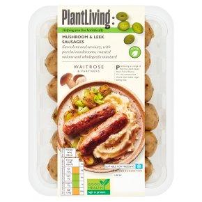 Plantlife: Mushroom & Leek Sausages