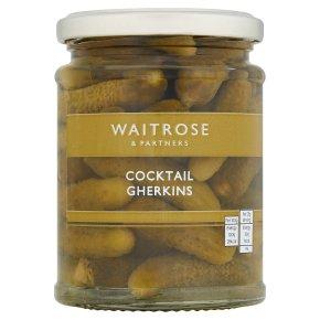 Waitrose cocktail gherkins