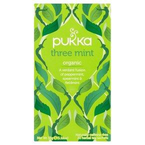 Pukka Organic Three Mint 20 Tea Sachets