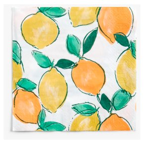 John Lewis Oranges & Lemons Napkins 33cm