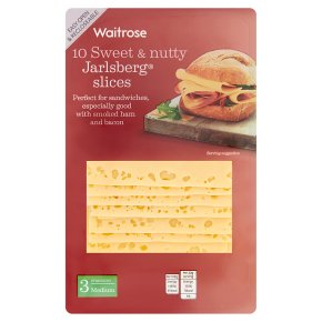 Waitrose 10 Jarlsberg Slices Strength 3