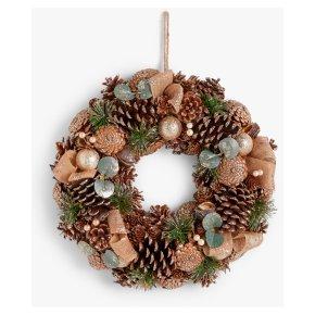John Lewis Champagne Pinecone Wreath