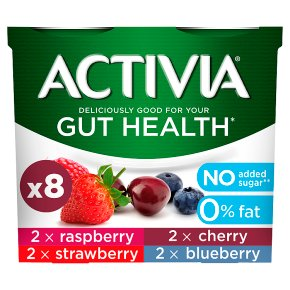Activia Fat Free Strawberry & Red Fruits Yoghurts