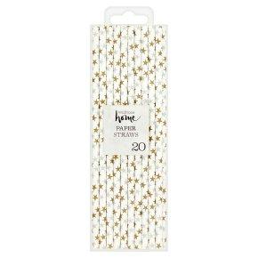 Waitrose Home Gold/ Silver Star Straws