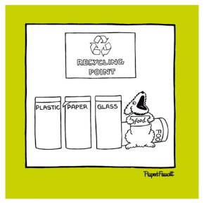 Dog Recycling Card