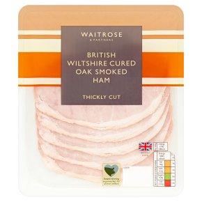 Waitrose British Wiltshire Thick Cut Oak Smoked 3 Slices