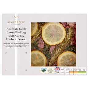 No.1 Abervale Lamb Butterflied Leg with Garlic, Herbs, Lemon