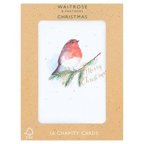 Waitrose Christmas Robin Charity Cards
