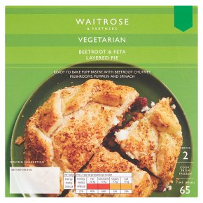 Waitrose Vegetarian Beetroot & Feta Layered Pie