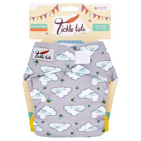 Tickle Tots Bees Reusable Nappy