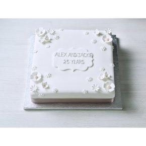 Silver Celebration Cake