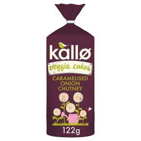 Kallo Veggie Cakes Caramelised Onion Chutney
