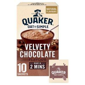 Quaker Oat So Simple Velvety Chocolate 10 Porridge Sachets
