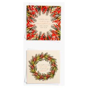 John Lewis Christmas Wreath Card