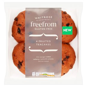 Waitrose Free From 4 Fruited Teacakes
