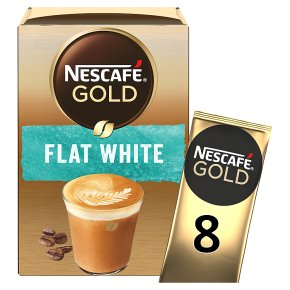 Nescafe Gold Sachets Flat White Instant Coffee