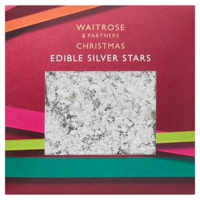 Waitrose Christmas Edible Silver Stars
