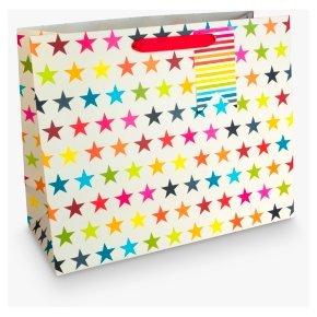John Lewis Medium Multicolour Star Bag